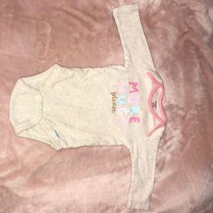 3-6 month baby girl onesie